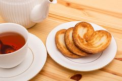 Cup of tea with cookies Royalty Free Stock Photo