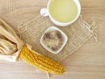 Tea with corn silk, Maydis stigma. Cup of tea with corn silk, Maydis stigma Stock Images