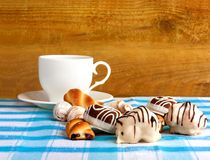 Cup of tea and delicious cookies Royalty Free Stock Photo
