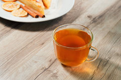 Cup of tea with dessert Royalty Free Stock Image