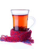 The Cup of Tea Entwined with Scarf Stock Photography
