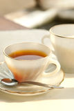 A cup of tea in the evening Royalty Free Stock Photo