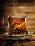 Cup with tea flower Royalty Free Stock Photo