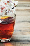 Cup of tea and flowers Royalty Free Stock Photography