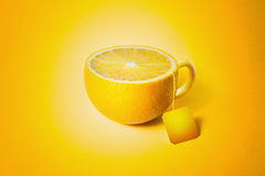 Cup of tea in the form of lemon Royalty Free Stock Photos