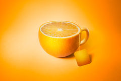 Cup of tea in the form of orange Stock Photo
