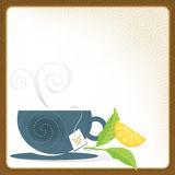 Cup of Tea Frame Stock Photos