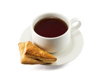 Cup of tea and fresh cookie Stock Photography