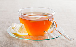 Cup of tea and fresh lemon Royalty Free Stock Images