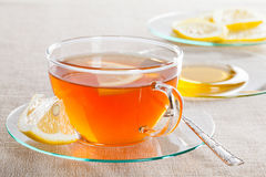 Cup of tea, fresh lemon and honey Royalty Free Stock Images