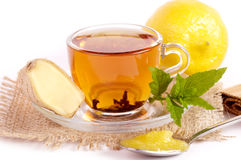 Cup of tea with ginger, honey Royalty Free Stock Images