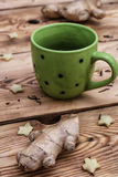 Cup of tea from ginger root Royalty Free Stock Photo