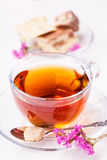 Cup of tea with halva Royalty Free Stock Images