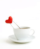 Cup of tea and heart Royalty Free Stock Photo
