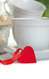 Cup of tea with heart shape Stock Photography