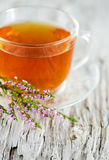 Cup of tea and heather Royalty Free Stock Image