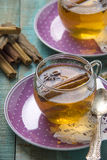 Cup Of Tea. And herb gathering royalty free stock photography