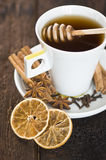 Cup of tea with herbs and spices Stock Images
