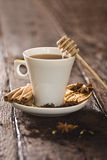 Cup of tea with herbs and spices Royalty Free Stock Image