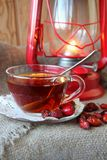 Cup of tea from the hips Royalty Free Stock Image