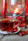 Cup of tea from the hips Royalty Free Stock Photography