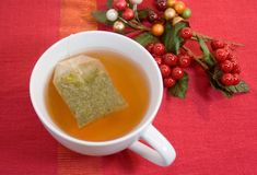 Cup of tea for holiday Stock Images
