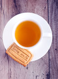 Cup of tea and homemade biscuit Stock Image