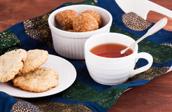 Cup of tea and homemade cookies Royalty Free Stock Image