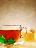 Cup of tea and honey Stock Image