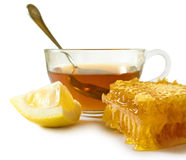 Cup of tea and honeycomb Stock Photo
