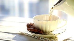 Cup of tea stock video