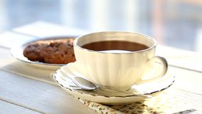 Cup of tea stock footage