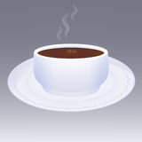 Cup of tea. A hot Cup of tea on a saucer Royalty Free Stock Photography