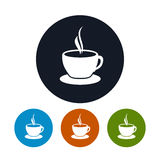 Cup of tea icon, cup of coffee icon Stock Image