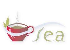 Cup of tea. Illustration Stock Photo