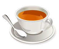 Cup of tea. Image of light cup of tea on white background Royalty Free Stock Images