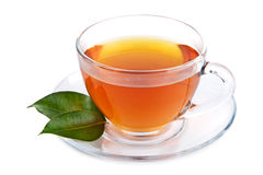 Cup of tea isolated stock photography