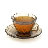 Cup of tea isolated. On white background stock photo