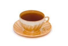 Cup of tea isolated. On the white background Stock Images