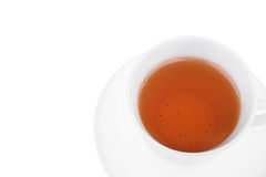 Cup of tea isolated on a white. Royalty Free Stock Images