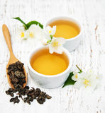 Cup of tea with jasmine flowers Stock Image