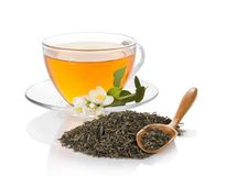 Cup of tea with a jasmine Stock Photography