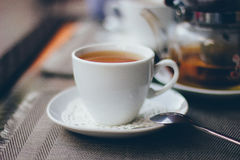 A cup of tea with the kettle Royalty Free Stock Images