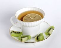 Cup of tea with a lemon Stock Photo