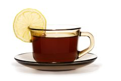 Cup of tea with lemon Royalty Free Stock Photography