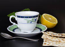 Cup with tea. And lemon Royalty Free Stock Photo