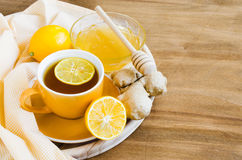 Cup of Tea With Lemon Ginger and Honey. Stock Photography
