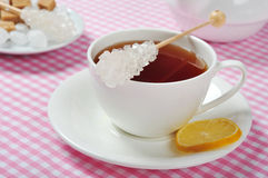 Cup with tea and lemon Royalty Free Stock Image