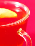 A cup of tea and a lemon Stock Photography