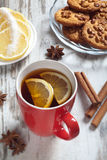 Cup of tea with lemon slices Royalty Free Stock Image